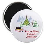 Rottweiler Christmas Magnet