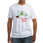Rottweiler Christmas Fitted T-Shirt