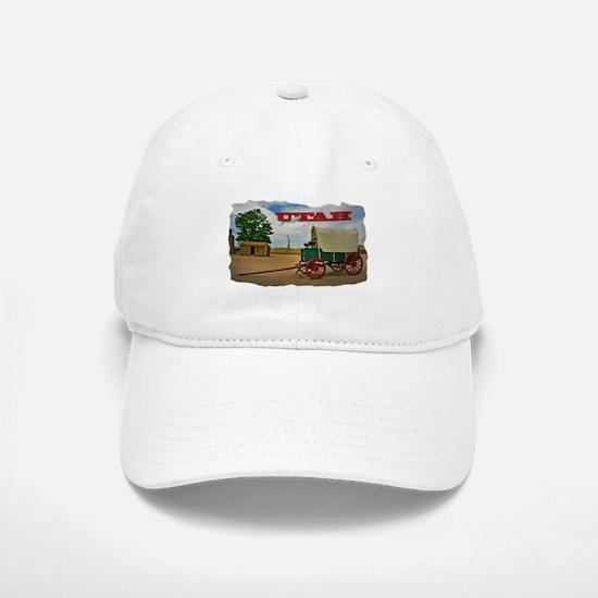 Utah covered wagon Baseball Cap