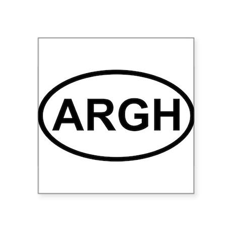 ARGH Oval Sticker