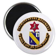 "COA - 54th Infantry Regiment 2.25"" Magnet (10 pack"