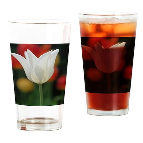 White Tulip Drinking Glass