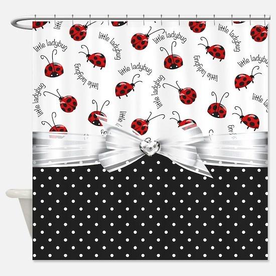 Little Ladybug Shower Curtain