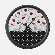 Little Ladybug Large Wall Clock