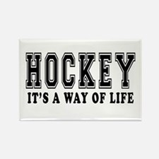 Hockey It's A Way Of Life Rectangle Magnet