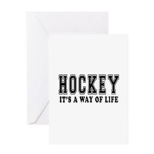 Hockey It's A Way Of Life Greeting Card