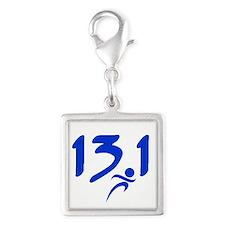 Blue 13.1 half-marathon Charms