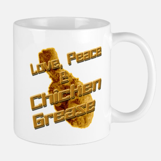 Love, Peace, and Chicken Grease Mug