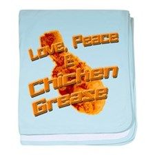Love, Peace, and Chicken Grease baby blanket
