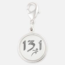 Silver 13.1 half-marathon Charms