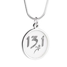 Silver 13.1 half-marathon Necklaces