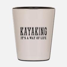 Kayaking It's A Way Of Life Shot Glass