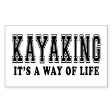 Kayaking It's A Way Of Life Decal