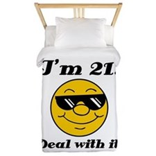 21st Birthday Deal With It Twin Duvet