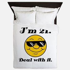 21st Birthday Deal With It Queen Duvet