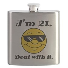 21st Birthday Deal With It Flask