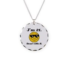21st Birthday Deal With It Necklace
