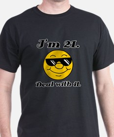21st Birthday Deal With It T-Shirt