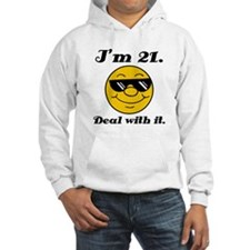 21st Birthday Deal With It Hoodie