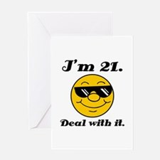 21st Birthday Deal With It Greeting Card