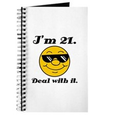 21st Birthday Deal With It Journal