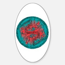 Mimbres Design 1 Oval Decal