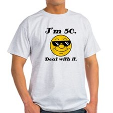 50th Birthday Deal With It T-Shirt