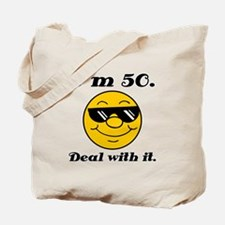 50th Birthday Deal With It Tote Bag
