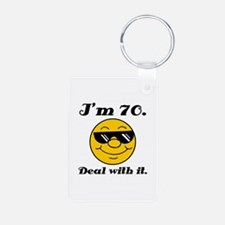 70th Birthday Deal With It Keychains