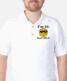 70th Birthday Deal With It T-Shirt