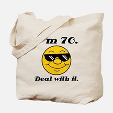 70th Birthday Deal With It Tote Bag