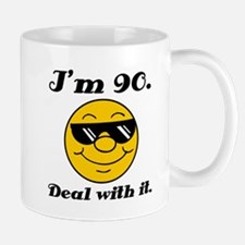 90th Birthday Deal With It Small Small Mug