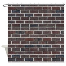 Awesome Brick Pattern Shower Curtain