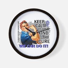 Rosie Keep Calm Thyroid Disease Wall Clock