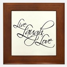 Live, Laugh, Love Framed Tile