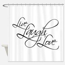 Live, Laugh, Love Shower Curtain