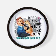 Rosie Keep Calm Thyroid Cancer Wall Clock