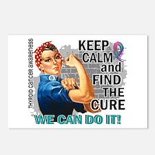 Rosie Keep Calm Thyroid Cancer Postcards (Package
