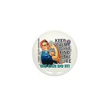 Rosie Keep Calm Thyroid Cancer Mini Button (10 pac