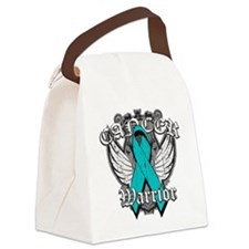 Ovarian Cancer Warrior Canvas Lunch Bag