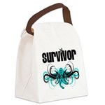 Ovarian Survivor Tribal Canvas Lunch Bag