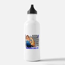 Rosie Keep Calm Syringomyelia Water Bottle