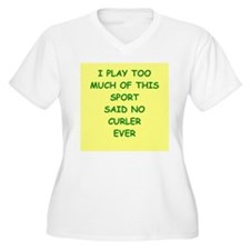curler Plus Size T-Shirt