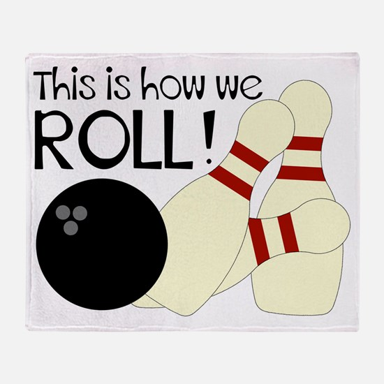 Cute Bowling league Throw Blanket