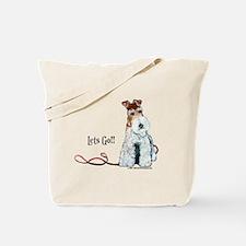 Fox Terrier Walk Tote Bag