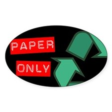Paper Only Recycling Sticker (Black Series) Sticke