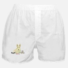 """Good Dog"" Wheaten Scottie Boxer Shorts"
