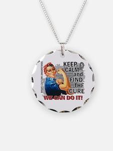 Rosie Keep Calm Brain Cancer Necklace