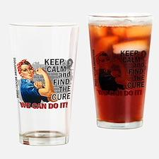 Rosie Keep Calm Brain Cancer Drinking Glass