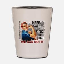 Rosie Keep Calm Brain Cancer Shot Glass